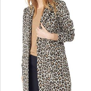 Cupcakes and Cashmere Leopard Wrap Coat